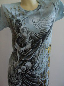 Emperor Eternity Chinese Immortal  Woman tattoo Blue XS