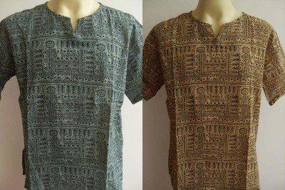 Thai Men's T Shirt Hindu OM India  L