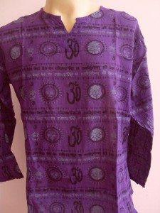 Ganesh Ganesha Om Men's T Shirt Hindu Hinduism India Purple L
