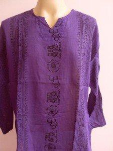 Ganesh Ganesha Om Men's T Shirt Hindu India Purple L #F