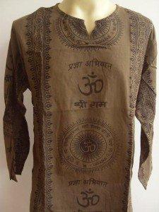 Ganesh Ganesha Om Men's T Shirt Hindu India Brown L 18072 1758