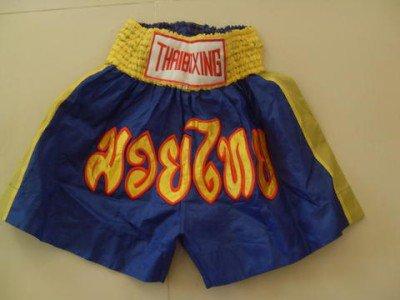 Muay Thai Kick Boxing shorts Nylon  Blue size M #MNBYR