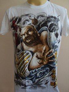 Emperor Eternity Hotei Japanese Tattoo white M L