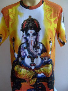 Ganesha Ganesh Men T Shirt OM Hindu India M G08 18082 6005
