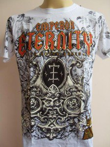 Emperor Eternity Ancient Sign Tattoo T-shirt  White M