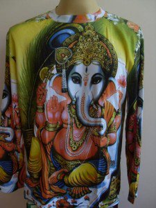 Ganesh T Shirt OM Hindu India Hinduism  L Long sleeve  #Gr.