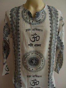 Ganesh Ganesha Om Men's T Shirt Hindu India White L