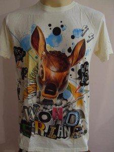 Fanged Dear Hip Hop Tattoo T-shirt Yellow M