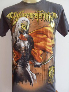 Emperor Eternity Mask Warrior Men T-shirt Gray L