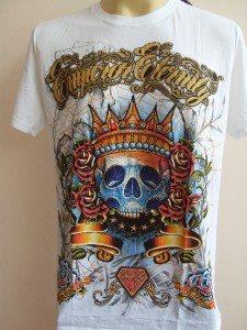 Emperor Eternity  Skull King T-shirt White M L