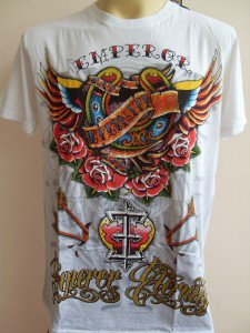 Emperor Eternity Winged Horseshoe T-shirt White M L