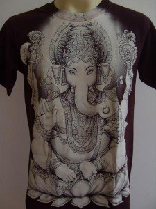Ganesha Ganesh Men T Shirt OM Hindu India Brown L#S2