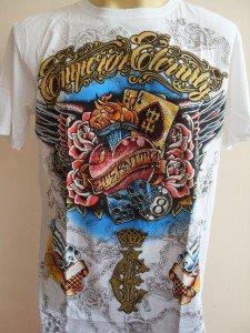 Emperor Eternity Gamble Heart Tattoo T-shirt White M L