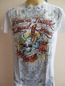 Emperor Eternity Stabbed Skull Tattoo T-shirt White M