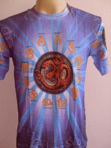 OM Ganesh Men T Shirt OM Hindu India Blue M #ASSAMIYA