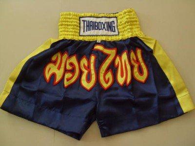 Muay Thai Kick Boxing shorts Satin Navy Blue size L  # LSNYB