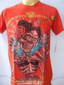 Minute Mirth Skull Material Girl Tattoo Men T-shirt L