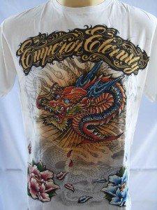 Emperor Eternity Glittering Dragon Tattoo T shirt M #W 18071 2734