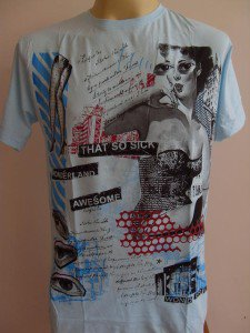 Oldie Swimsuit Hip Hop T-shirt light Tattoo Blue L