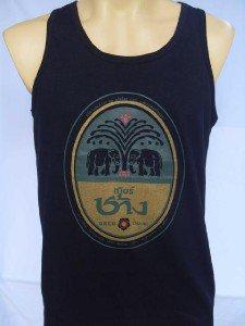 Thai Chang Beer Men T-shirt Tank Top Singlet Black M L