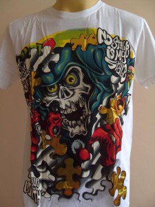 Minute Mirth Deadly Jigsaw Tattoo Men T-shirt White L