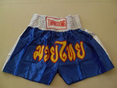 Muay Thai Kick Boxing shorts Satin Blue size 3XL  # 3SBWR