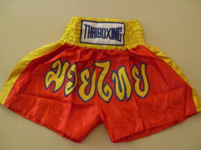 Muay Thai Kick Boxing shorts Satin Red size 2XL  # 2SRYB