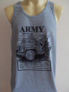 Willys Jeeb Station Wagon Retro Army WW. II Tank top L