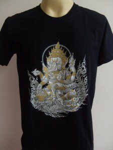 Ganesha Ganesh Lord T Shirt OM Hindu India black  M