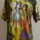 Lord Krishna and Radha Men T Shirt OM Hindu India L K04