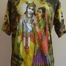 Lord Krishna and Radha Men T Shirt OM Hindu India L K04