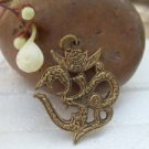 Lord OM Hinduism Brass Pendant India Amulet