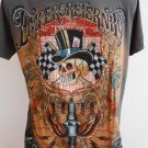 Emperor Eternity Spark Winner SKull Tattoo T-shirt Gray M