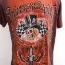 Emperor Eternity Spark Winner SKull Tattoo Brown M holes Tattoo T-Shirt