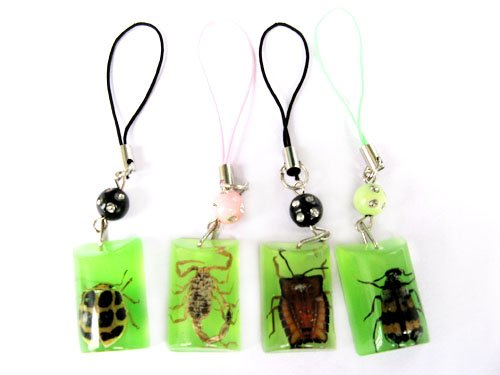 Wholesale Lot 12 Insect Bug Cellhphone Mobile Strap String New
