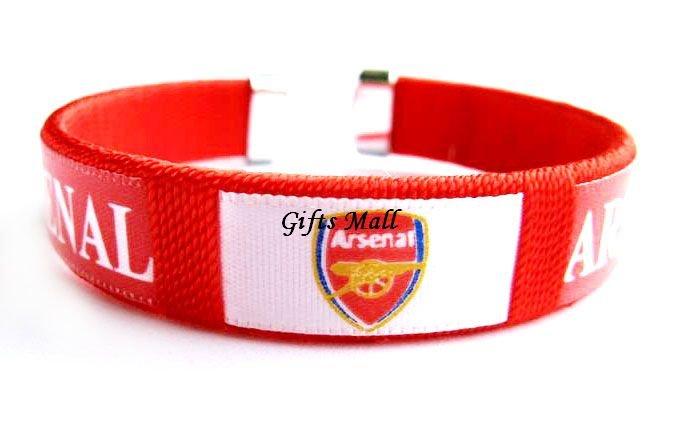 Arsenal FC Club Football Sport Adjustable Bangle Bracelet New