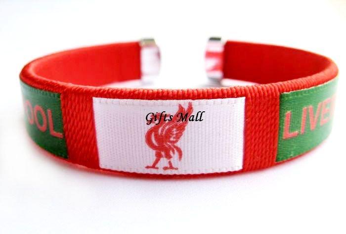 Liverpool FC Club Football Sport Adjustable Bangle Bracelet New