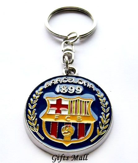 Barcelona Football Sport FC Club Metal Key Chain Ring
