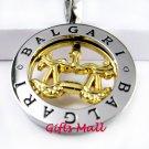 Horoscope Zodiac Constellation Stainless Steel Necklace Pendant Libra