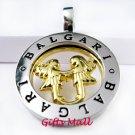 Horoscope Zodiac Constellation Stainless Steel Necklace Pendant Gemini