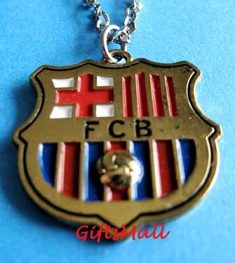 Barcelona FC Club Football Sport Soccer Colorful Necklace Pendant With Chain