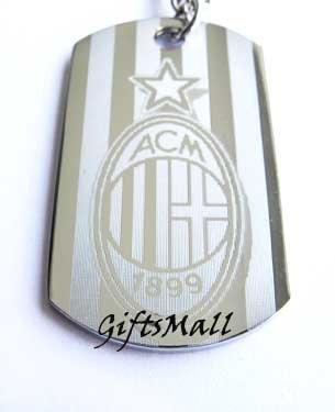 AC Milan FC Club Football Sport Soccer Dog Tag Necklace