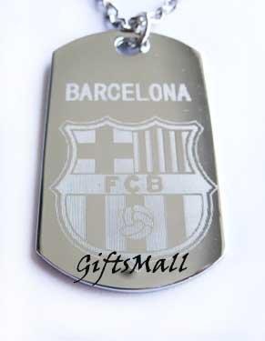 Barcelona FC Club Football Sport Soccer Dog Tag Necklace