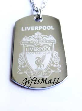 Liverpool FC Club Football Sport Soccer Dog Tag Necklace