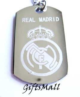 Real Madrid FC Club Football Sport Soccer Dog Tag Necklace