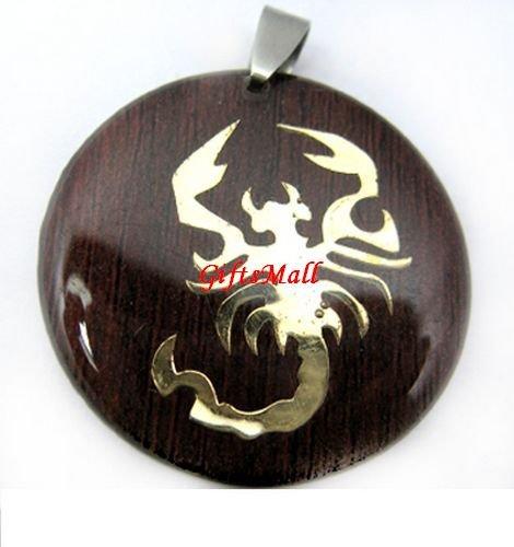Horoscope Zodiac Constellation Red Round Necklace Pendant Scorpio