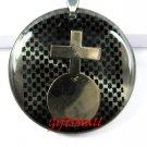 Horoscope Zodiac Constellation Black Round Necklace Pendant Aquarius