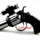 Silver Pistol Shaped Butane Cigarette Lighter With Laser Sight