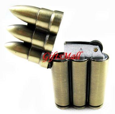 Triple-bullets Brass Hunter Cigarette Lighter New