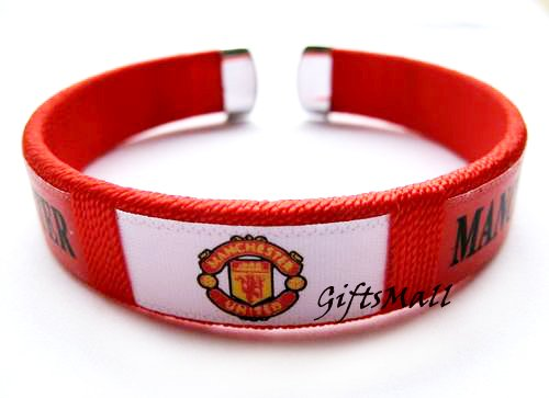 Manchester United FC Club Football Sport Adjustable Bangle Bracelet New